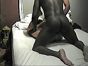 Ebony hunk ramming his massive BBC pole into a short haired wife